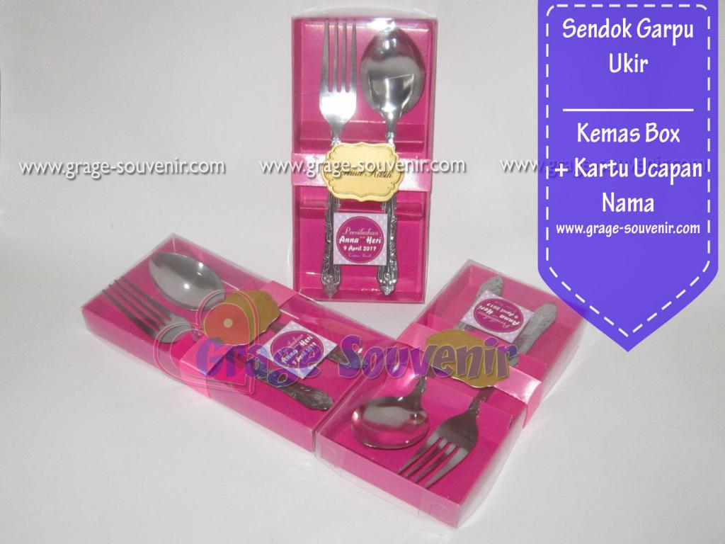 souvenir sendok garpu wayang kemas box murah