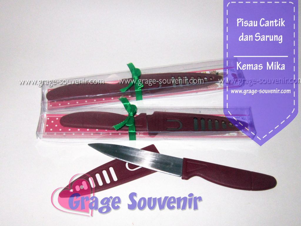Distributor souvenir pisau dapur stainless harga murah