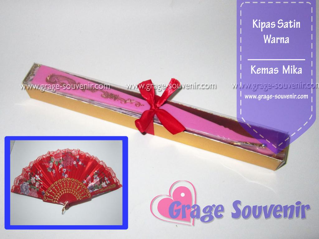 distributor souvenir kipas satin warna murah
