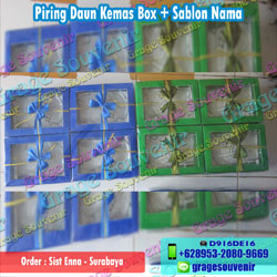 Jual Souvenir Pernikahan Surabaya Piring Daun Kemas Box