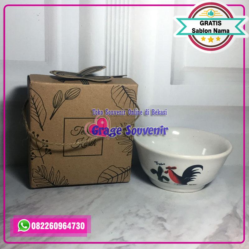 mangkok ayam kemas box rustic, grosir mangkok ayam keramik, harga souvenir mangkok ayam